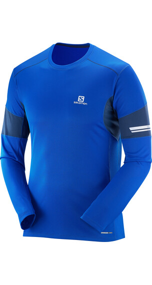 Salomon Agile LS Tee Men blue yonder/big blue-x/big blue-x